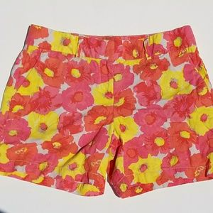 Ann Taylor LOFT Pink and Yellow Floral Short